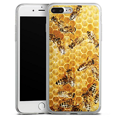 Apple iPhone 8 Plus Slim Case Silikon Hülle Schutzhülle Bienen Biene Insekten Silikon Slim Case transparent