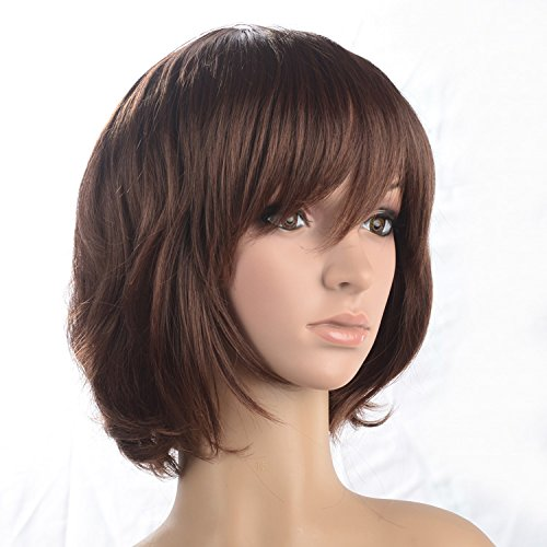 Namecute Short Wig Natural Curly Wavy for Women+Free Wig Cap by Namecute
