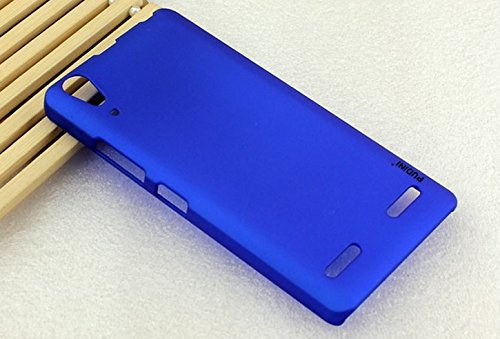 PUDINI rubber paint series mobile phone back case for lenovo A6000 - Blue