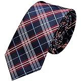 GASSANI - Corbata - Cuadrados - para hombre Azul Blue - Blue / red Small