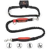 Jogging Hundeleine - SPLAKER zum Laufen, Laufen oder Joggen für bis zu 60KG lbs Hunde, Farbe: Schwarz + Rot, Modell: GSA002.