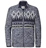 Jan Vanderstorm Herren Outdoor Strickjacke Arbogast (Norweger, Winterstrickjacke) blau L - 52/54