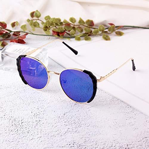 Taiyangcheng Halbrahmen Sonnenbrillen Metall Quadrat Großer Rahmen Brillen Sonnenbrillen Kids Sonnenbrillen Jungen Mädchen,Grün
