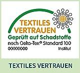 Palina Hundedecke, Größe M, waschbar 95 Grad, Made in Germany, atmungsaktives Dry-Fit-Material, widerstandsfähig gegen Hundebisse und Hundekrallen, Öko-Tex Standard 100 (grau) - 6