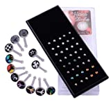 Kadima Body Piercing Jewelry 40 pc/Box 20G Surgical Stainless Steel Nose Ring Stud Mix Design
