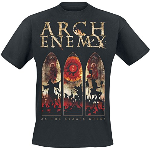 Arch Enemy Stages Burn T-Shirt Schwarz L (Burn-jungen-t-shirt)