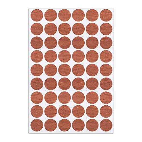 sourcing map Selbstklebende Schraubverschlüsse mit 1 Deckel für Kappen Aufkleber 21mm 54 in 1 Kirsche -