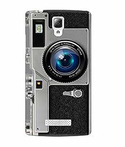 Make My Print Camera Printed Grey Soft Back Cover For Lenovo A2010