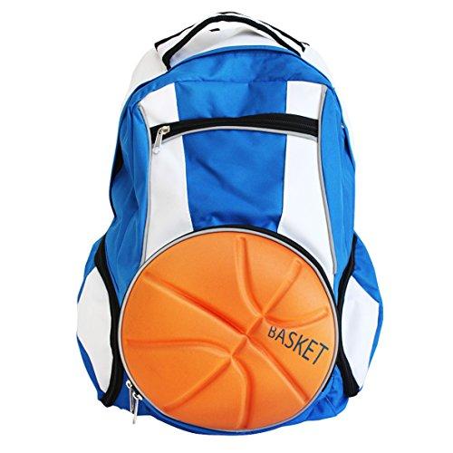 Diapolo Professionale Rucksack Basketball Funktionrucksack Tasche Sporttasche (Royalblau-Weiß)