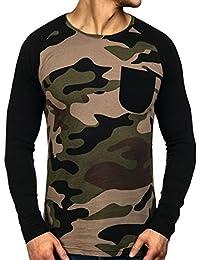 BOLF – Sweat-shirt – Manches longues – U-neck – ATHLETIC 1089-1 – Homme