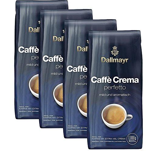 Dallmayr Caffé Crema PERFETTO mild & aromatisch 4er Pack 4000g - Kaffee, ganze Bohne