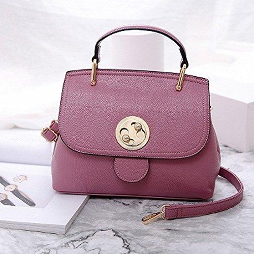 Red Handtaschen-Schulter-Kurier-Beutel-Kleidung Mode-Handtasche Hochzeits-Tasche Lotus Lila