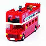 Unbekannt NANOBLOCK 14837 - London Tour Bus, 3D-Puzzle, Sights to See, 360 Teile, Schwierigkeitsstufe 2, mittel