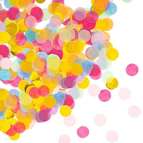 Oblique Unique® Papier Konfetti Bunt Tisch Deko Streu Dekoration für Geburtstag Feier Party Hochzeit JGA Jubiläum