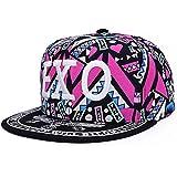 Ocamo 3D Embroidery Printed Pattern Breathable Hats Adjustable Hip Hop Flat Edge Baseball Cap Comfortable Unisex