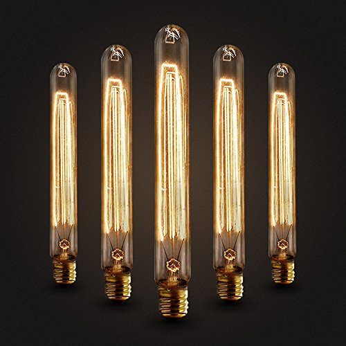 5×Neverland E27 40W 50V-220V T225 Edison Lampe Filament Glühlampe Retro Licht Vintage Glühbirne Antik Beleuchtung Warmweiß