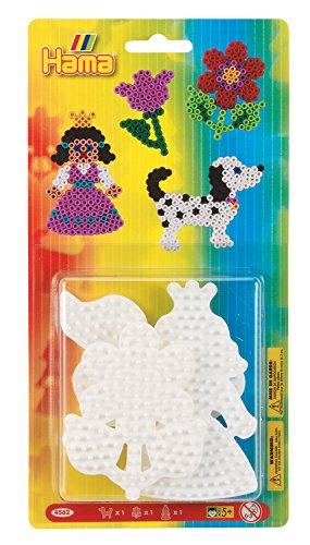 Hama 4562 - Stiftplatten klein Sortiment, Hund, Blume und Prinzessin -
