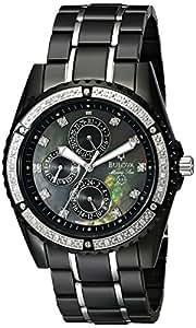 Bulova Men's 98E003 Black Stainless-Steel Quartz Watch with Black Dial