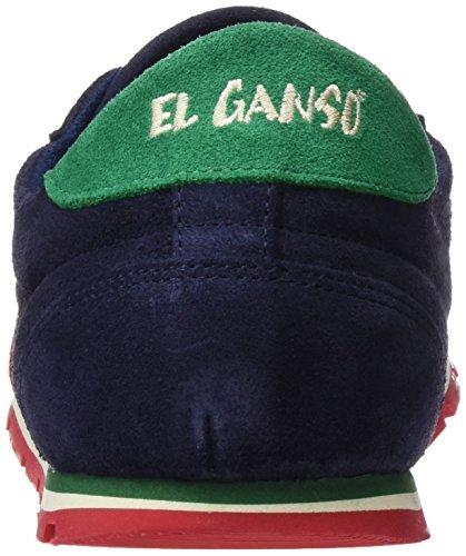 El Ganso Zapatilla Running Ante Marino Cinta, Baskets Basses Homme Bleu - Marino