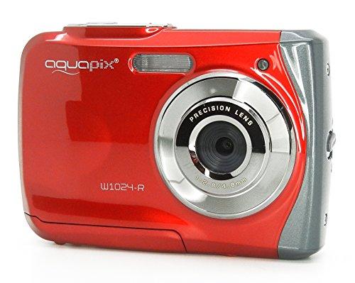 Aquapix W1024-R Splash Unterwasser Digitalkamera rot - 3