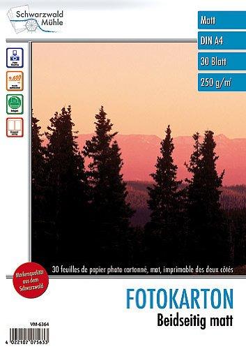 "Schwarzwald Mühle A4 Papier: 30 Bl. Foto-Karton\""Satinum Brillant\"" beidseitig A4 (Inkjet-Fotopapier A4)"
