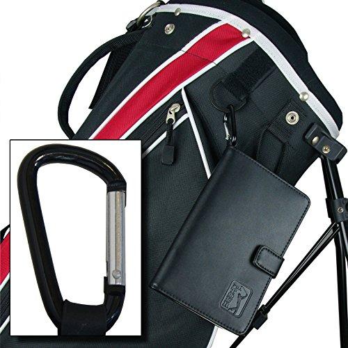 PGA TOUR Score Karte und Zubehörtasche aus echtem Leder , schwarz - 4