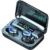 Auriculares Inalámbricos, Auriculares Bluetooth 5.0 Impermeable, Mini Portátil Caja de Carga, HI-FI Estéreo, Control Tactil c