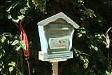 Großer Briefkasten HBK-SD-TÜRKIS türkis amazon meeresblau blauBriefkasten HBK-SD aus Holz Schaukasten Briefkästen Holzbriefkästen Postkasten Spitzdach
