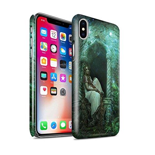 Offiziell Elena Dudina Hülle / Glanz Snap-On Case für Apple iPhone X/10 / Notre Dame Muster / Märchen Charaktere Kollektion Goldenes Haar