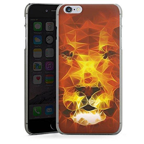 Apple iPhone X Silikon Hülle Case Schutzhülle Burning Lion Löwe Feuer Hard Case anthrazit-klar