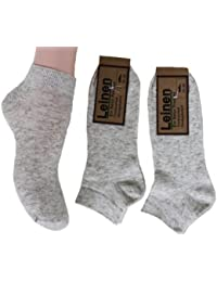 Americo R, Leinensneaker Socken, 3Paar,Naturmeliert,35-50