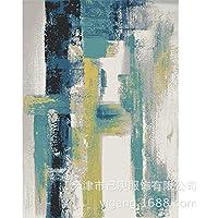 iJIAHOMIE Estera de Puerta, Soporte Antideslizante, Interior/Exterior,Pintura al óleo Abstracta Estilo Pintura en Tinta, 140x200cm