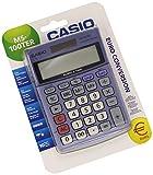 CASIO MS-100TER - Calculadora básica, 30.7 x 103 x 145 mm, azul