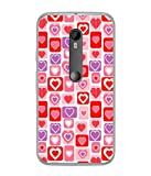 PrintVisa Designer Back Case Cover for Motorola Moto X Style :: Moto X Pure Edition (Heart Plain Redish Love Feelings)