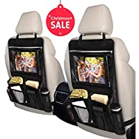 INTEY Car Back Seat Organiser Multi-Pocket with Tablet Holder 2 Pack