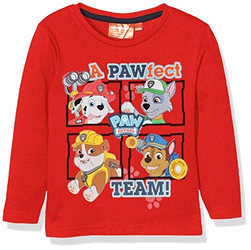 nickelodeon-paw-patrol-pawfect-team-t-shirt-garcon-rouge-red-amarante-3-ans