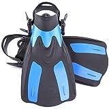 Liergou-Diving accessories Tauchflossen Short Light Weight Travel Schnorcheln Schwimmen Flossen zum Schwimmen und Schnorcheln