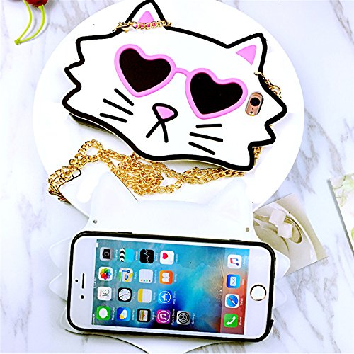 "Coque pour Iphone 6Plus/ 6S Plus (4,7 pouces), Koala Group® 3D ensembles de résistance à la chute de silicone des modèles animaux de ""Rainbow / White Cat / Black Cat / Love Cats / Burger Ours / Singe  Love Cats"