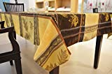 #7: Yellow Brown Maple Leaf Abstract Table cover 4 to 6 Seater - Size 140x200CM