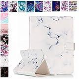 E-Mandala Universal 10 Zoll Hülle Etui Flip Case Leder Wallet Cover Tablet PC Tasche mit Kartenfach Klapphülle Ledertasche Lederhülle - Weiß