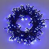 XMASKING Catena 12,5 m, 300 LED Blu, con Giochi di Luce, Cavo Verde, Ex Best Value, luci di Natale, luci Blu, luci per L'Albero di Natale