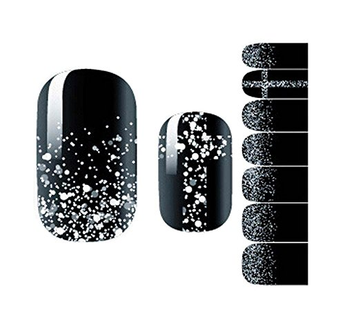 Lot de 5 ongles Stickers Stickers Nail bricolage Nail Art Noir