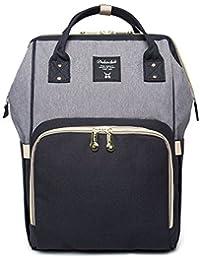 HEYI Baby Wickeltasche Reise Rucksack,Isolierte Tasche, Wasserdicht Stoffe, Multifunktional, Passform für Kinderwage, Große Kapazität Modern Einzigartig Tragbar Handtasche Organizer