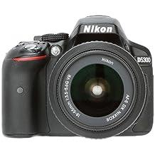 Nikon D5300 Digital SLR Camera (Black) with 18-55 VR Lens and AF-S DX NIKKOR 35mm f/1.8G Twin Lens 4GB Card, Camera Bag