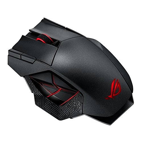 Asus ROG Spatha Wireless Gaming Maus (kabellos, RGB, MMO optimiert) stahlgrau