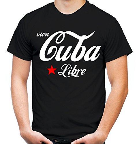 Viva Cuba Libre Männer und Herren T-Shirt   Spruch Che Guevara Geschenk Schwarz