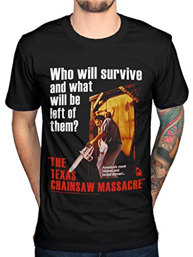 Official Texas Chainsaw Massacre Poster T-Shirt for Men