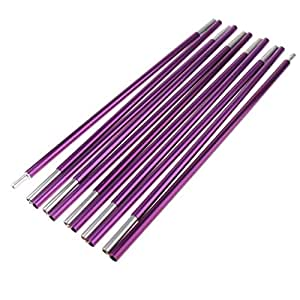 sturdy Alloy 11 Section Spare Replacement Tent Poles 320cm Fuchsia