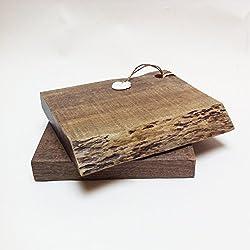 Tabla de cortar de madera de elondo. Tabla para quesos. Madera maciza. Tabla de cocina.