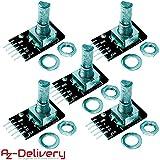 AZDelivery 5 x KY-040 Drehwinkelgeber Drehgeber Rotary Encoder Modul für Arduino